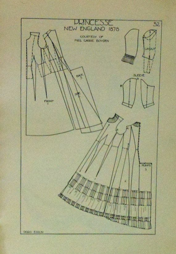 Period Patterns Book Historical Theatre Costume Diagrams Sewing Amazing Sewing Pattern Paper