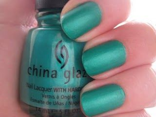 ChG: Turned up Turquoise ... one of my favorite China Glaze polishes. I've never worn it with top coat because I love it so much with it's natural matte finish.