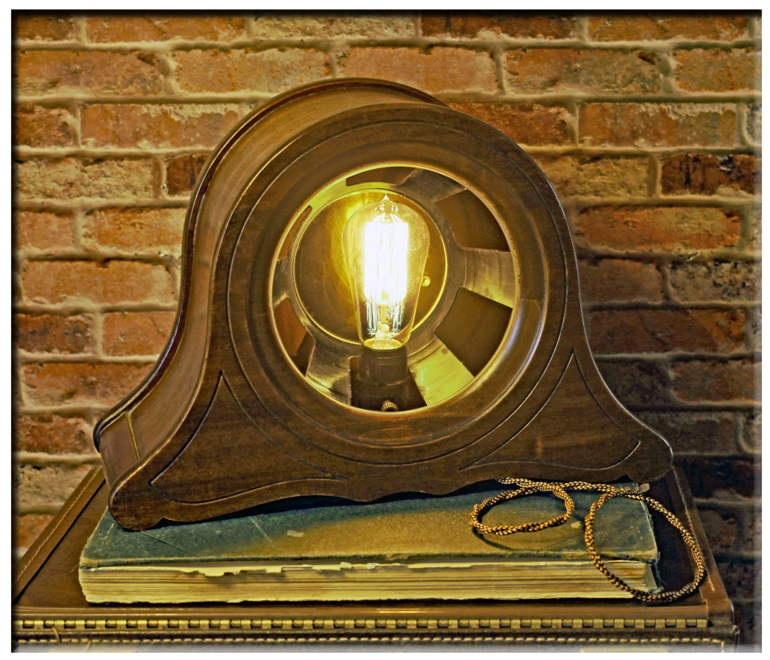 Upcycled Vintage Magnavox Gothic Wood Cathedral Speaker Repurposed into a Table…
