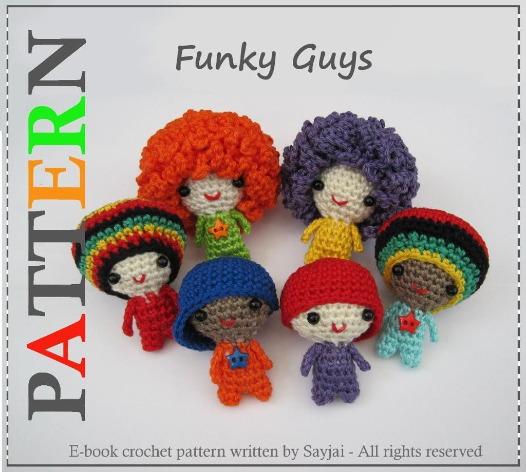 Funky Guys PDF Amigurumi Crochet Pattern looks like they belong is a ...