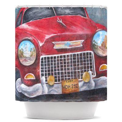 KESS InHouse Vintage in Cuba Shower Curtain