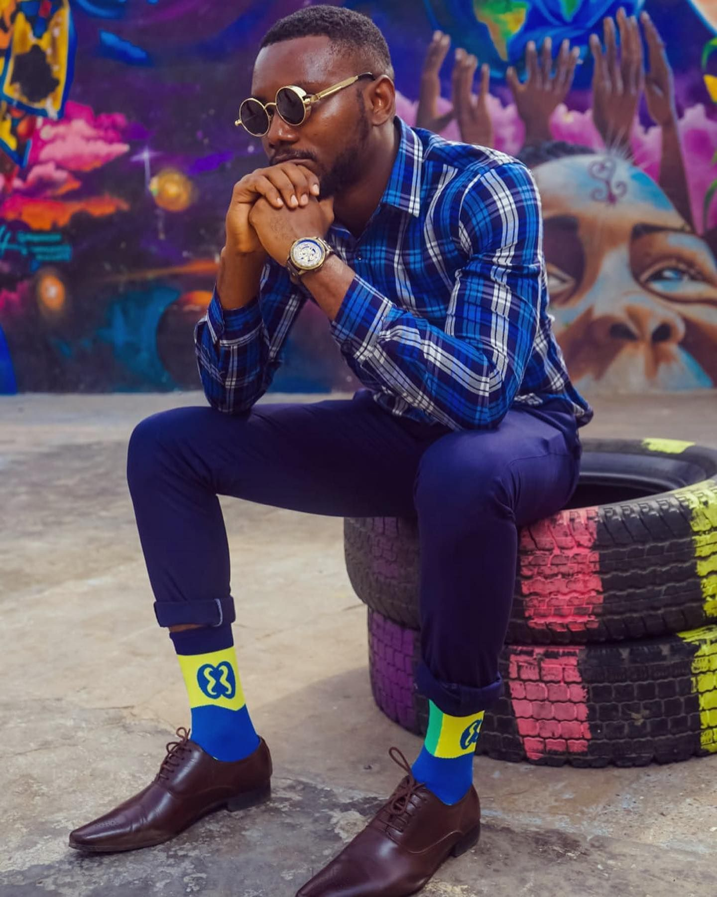 Add Some Colour To Your Dapper Outfit With The New Selection Of Stunning Adinkra Symbol Socks An Inspiration From Gh In 2020 Dapper Outfit Adinkra Outfits