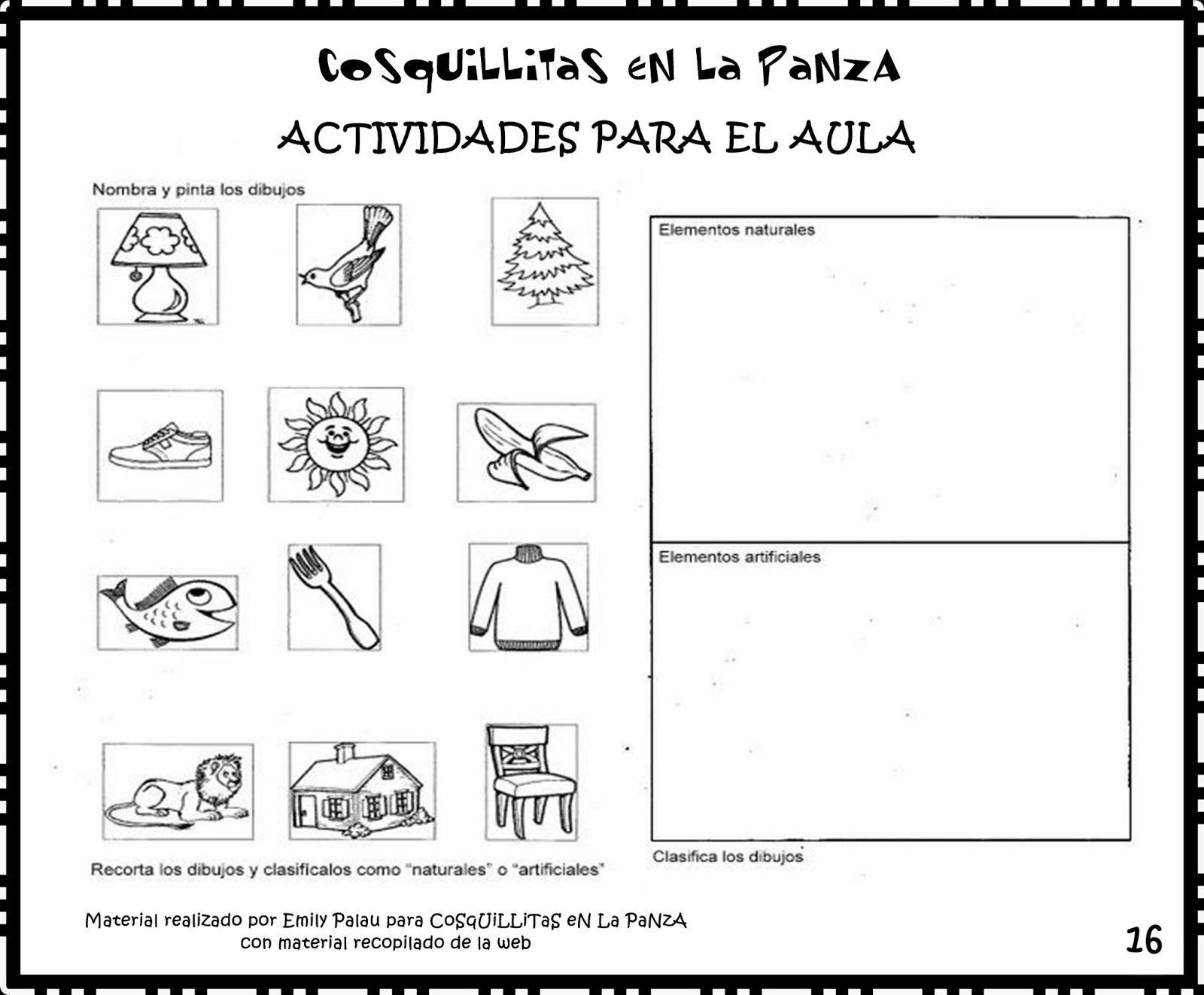 Objetos Naturales Y Artificiales Para Colorear Buscar Con Goo Materiales Y Sus Propiedades Letras De Canciones Infantiles Materiales Naturales Y Artificiales