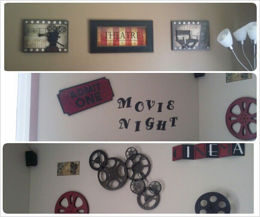 My Movie Themed Living Room With Images Movie Room Decor