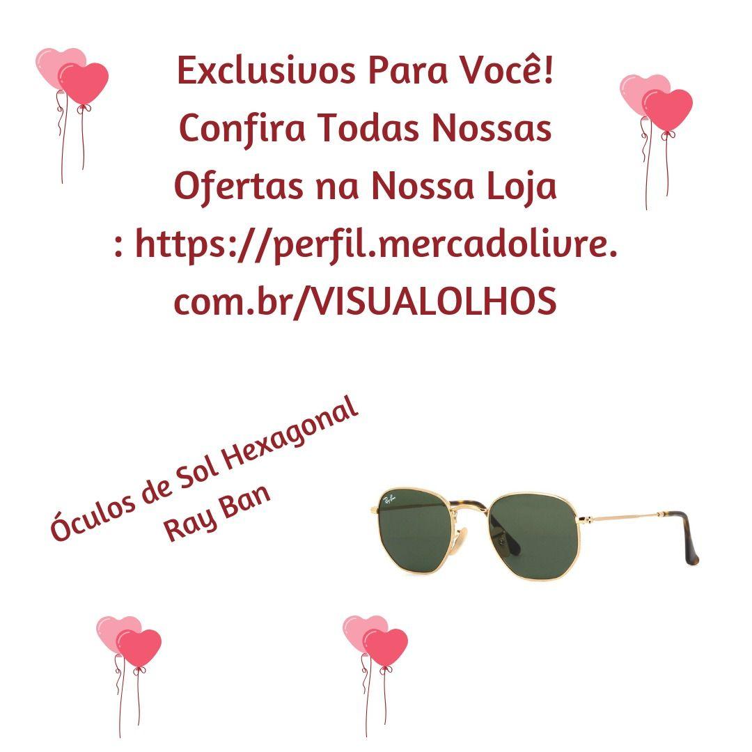 Óculos De Sol Hexagonal Masculino Feminino Original Promoção ... 8650054934