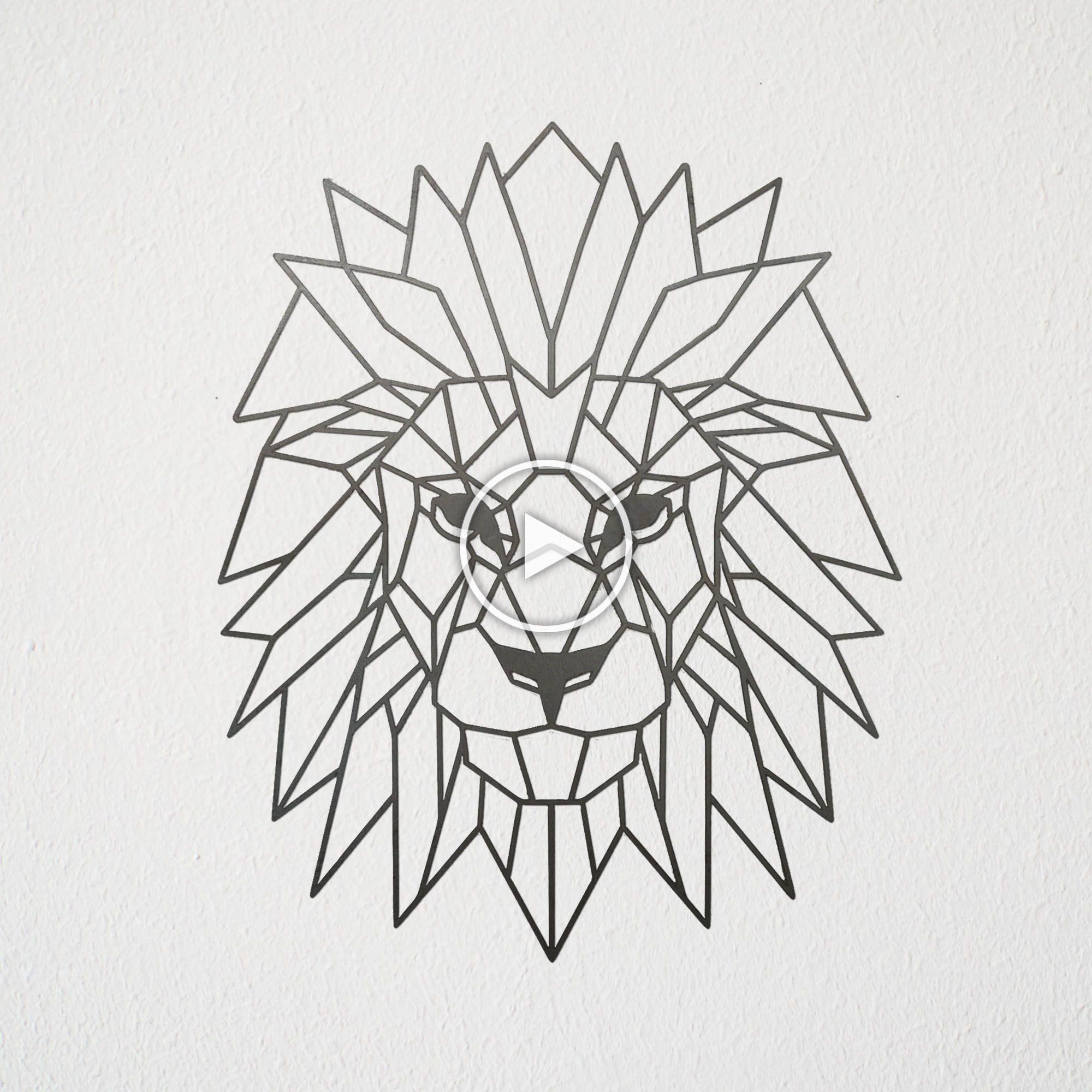 Geometric Lion Wall Art