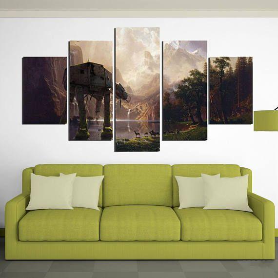 AT-AT - 5 Piece Canvas Wall Art | Star Wars Wall Art | Painting ...