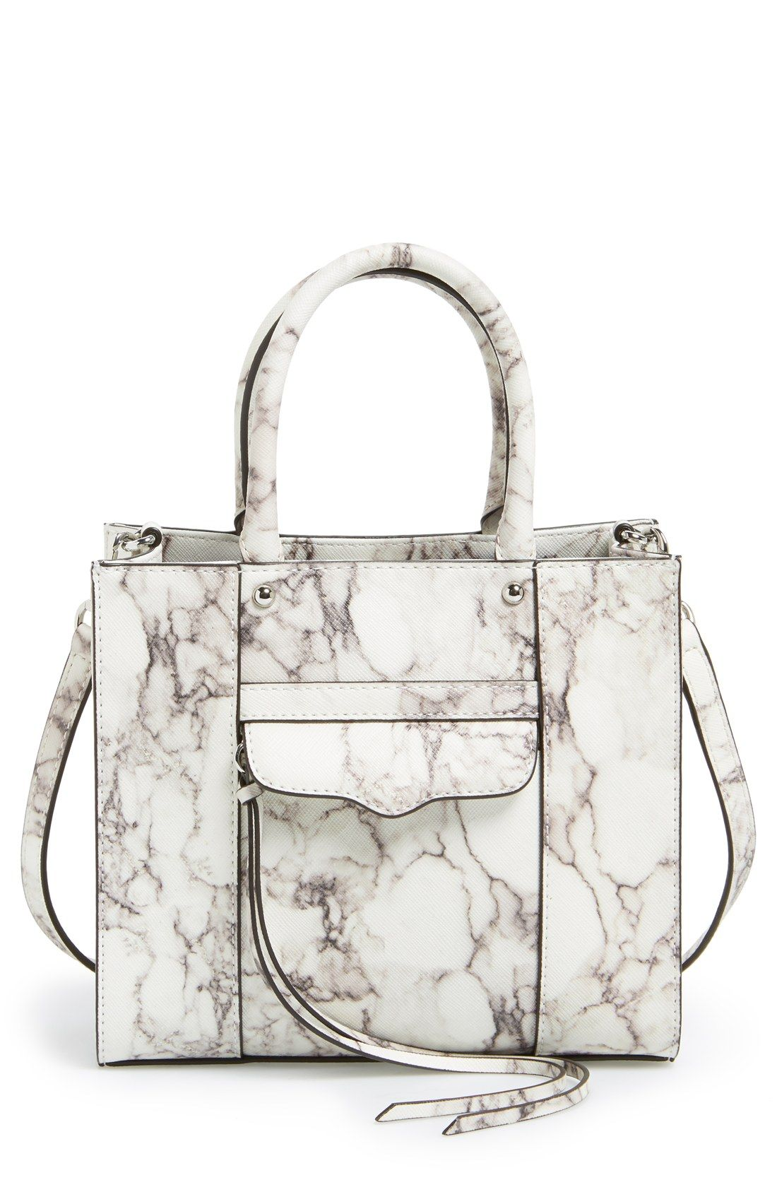 5e534777f5 ... Bags for Women. Marble print satchel  chic structured handbag    Rebecca  Minkoff