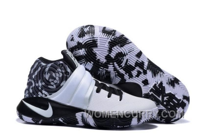 Nike Kyrie 2 Black White Mens Basketball Shoes Online Xc6CB6B ... aaeae0173