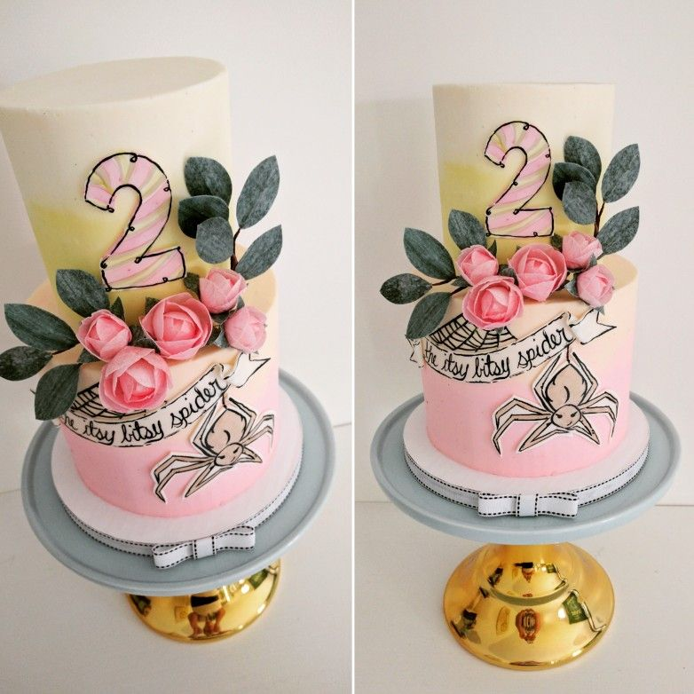 Itsy Bitsy Spider Nursery Rhyme Birthday Cake By Yellow Cake Co In