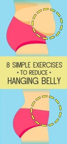 8 Simple Exercises to Reduce Hanging Belly