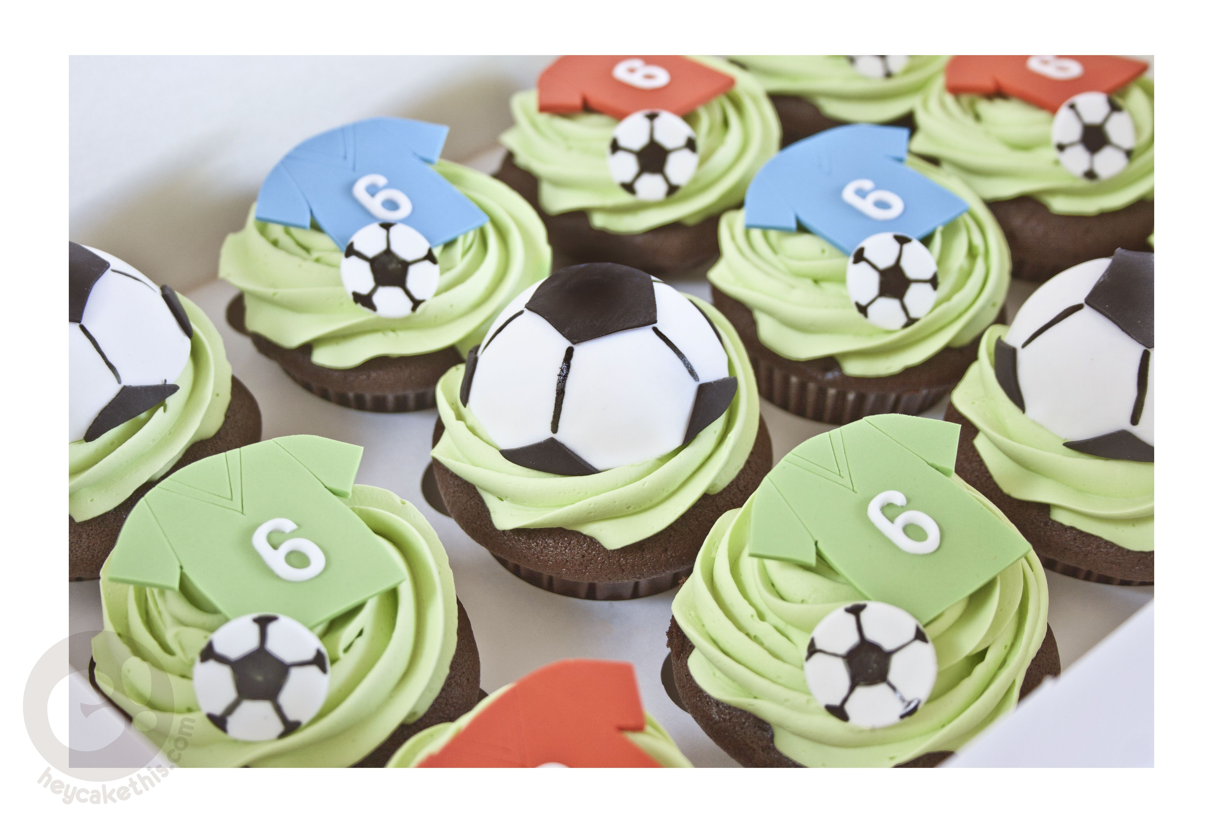 Soccer Ball Cupcakes Custom Cakes Cake In A Can Themed Cakes
