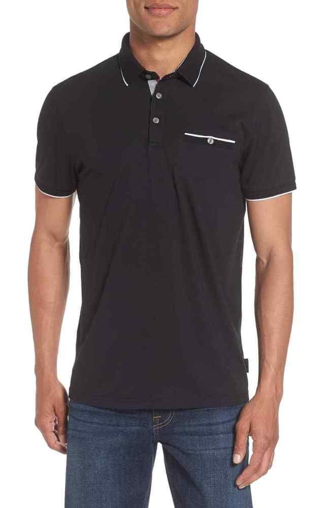 725cfc694  99 NWT NEW MEN S TED BAKER LONDON DERRY BLACK SLIM FIT POLO SHIRT SIZE 5  OR XL  fashion  clothing  shoes  accessories  mensclothing  shirts (ebay  link)