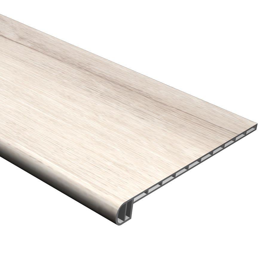 Cali Bamboo 11 5 In X 48 03 In White Aspen Vinyl Round Nose Stair