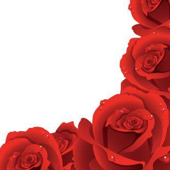 Borde Rosas Rojas Clipart De Flor Arreglos Florales Creativos Fondos De Flores