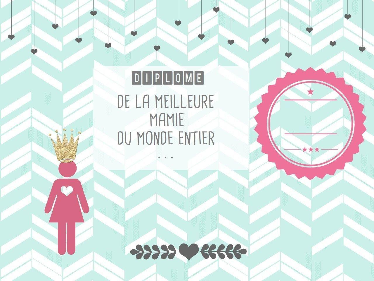free printable} le diplôme de super mamie | diy // for kids