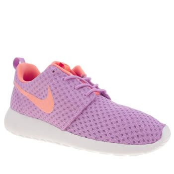 womens nike purple roshe run breeze