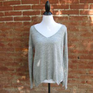 Pull tunique gris clair en baby alpaga