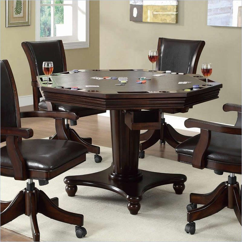 Game Table With Chairs On Casters Game Room Tables Game Room