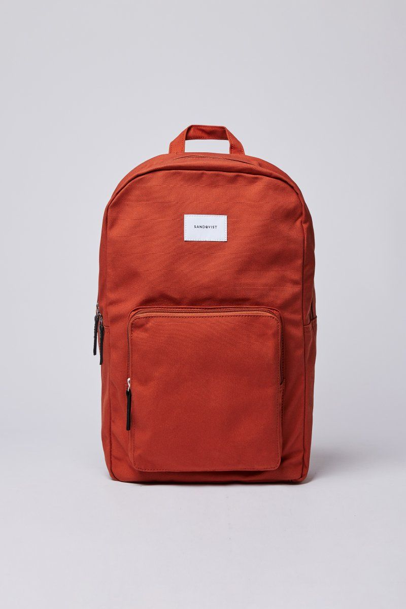 Kim Canvas Backback Rust In 2020 Unique Bags Leather Laptop Pocket