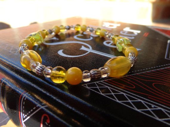 Yellow Sun Bracelet by MyBelleOriginals on Etsy