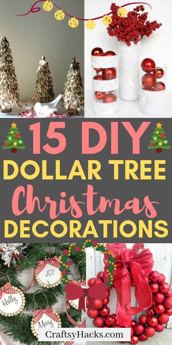 20 Unique Christmas Wreath Ideas Dollar Tree Christmas Christmas Crafts Diy Christmas Ornaments To Make