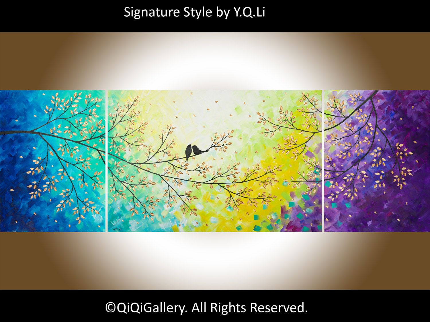 72 Huge Abstract Impasto painting landscape by QiQiGallery on Etsy