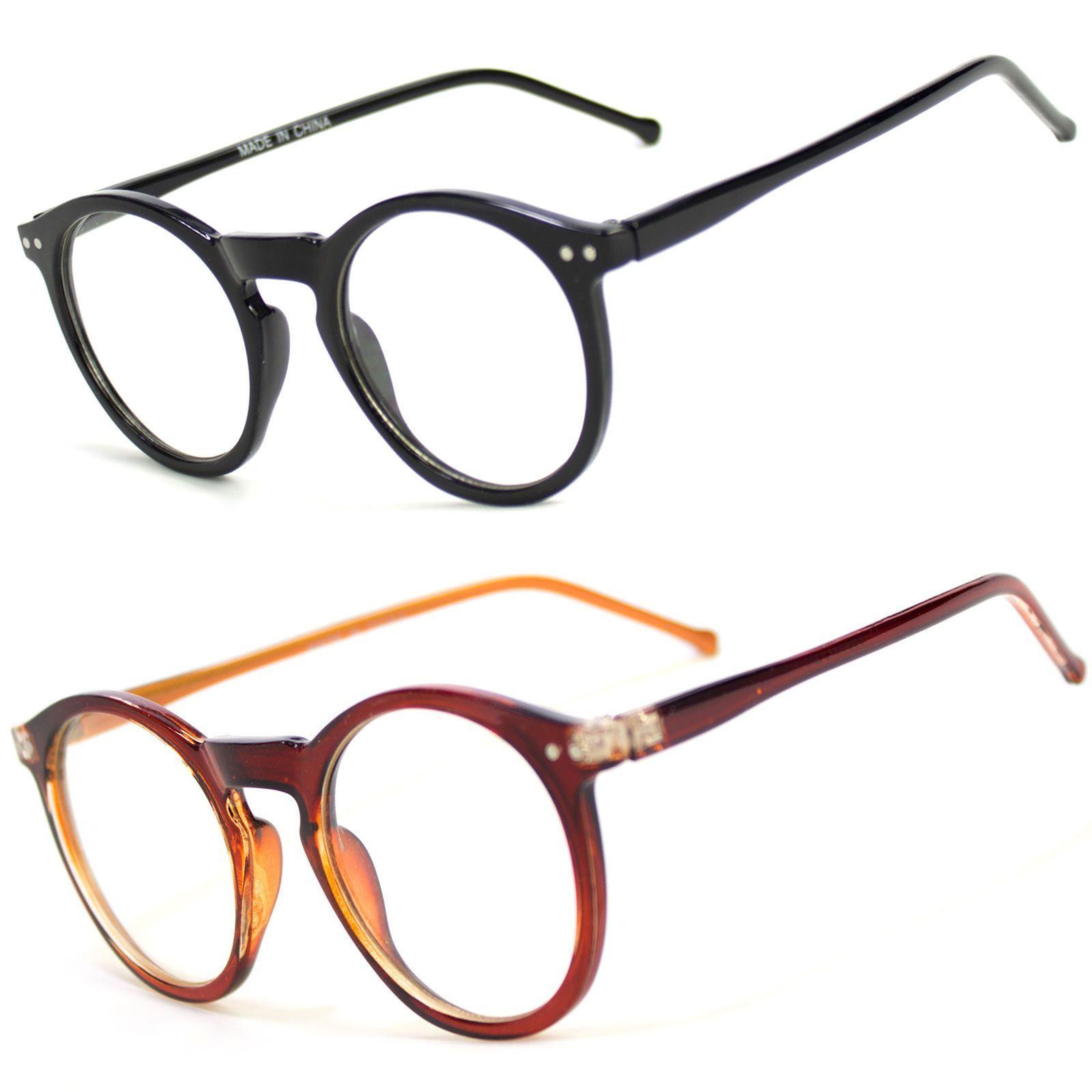 ab7cae70a3 Men Women Unisex Nerd Hipster Glasses Clear Lens Eyewear Retro Oval Round  Frame