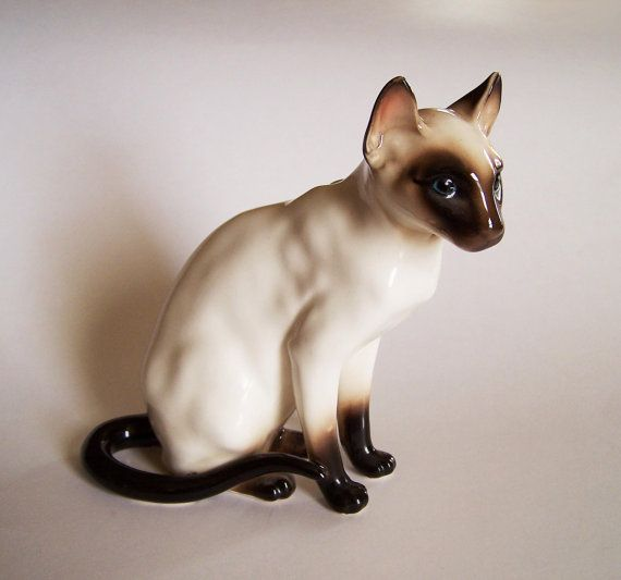 Chocolate Seal Point Siamese Cat Shafford Company Porcelain Siamese Cats Blue Point Siamese Cats Seal Point Siamese