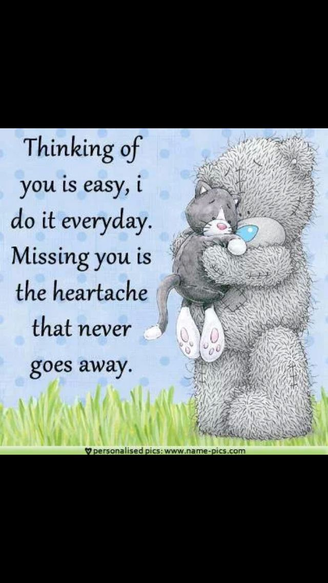 My heart aches for you everyday my love...