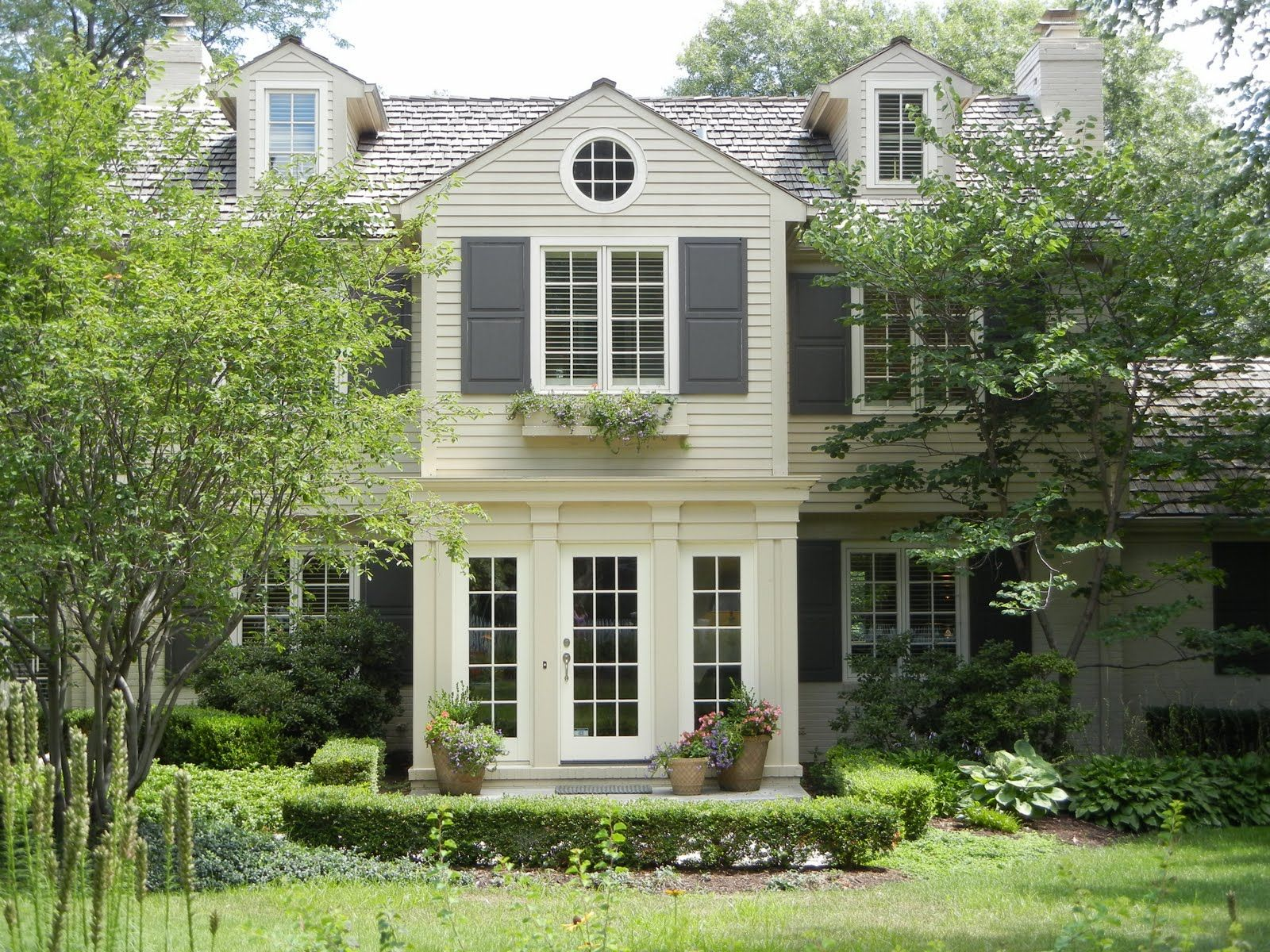 exterior colors we talked about (cream house, white trim, gray ...