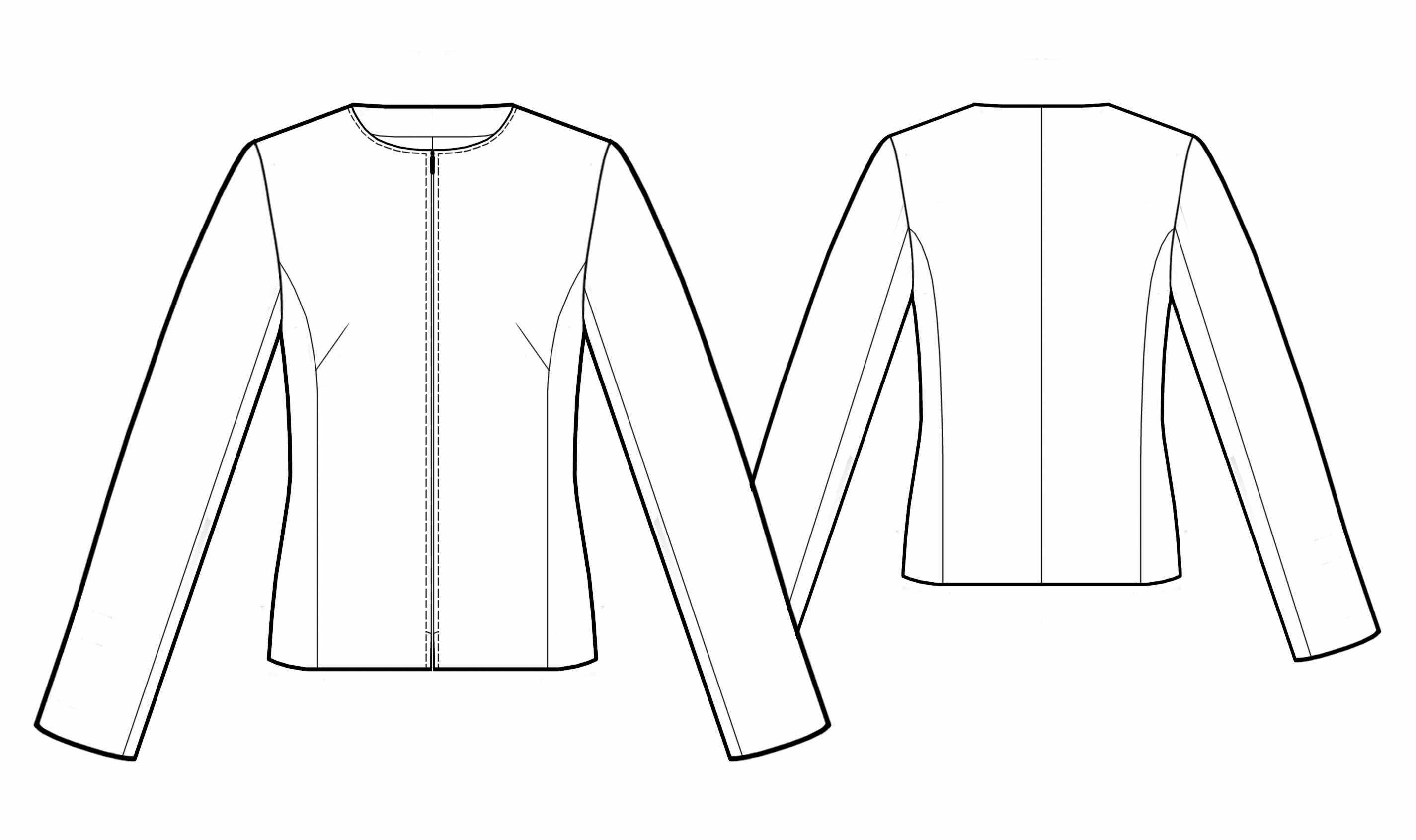 Chaqueta - Patrón de costura #5548   trazo ropa   Pinterest   패턴