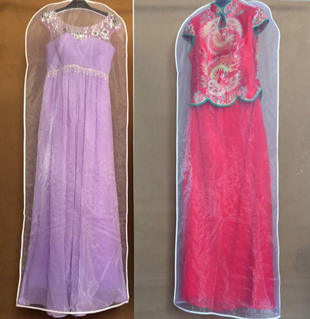 Transparent Hanging Wedding Dress Dust Cover Dust-proof Garment Bag ...
