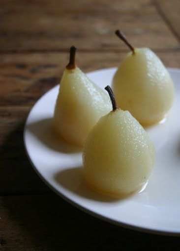 urbane fruits: Poached pears