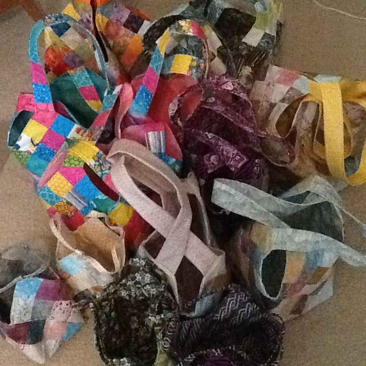 Bitty, Midi and Mondo bags I made October 2014