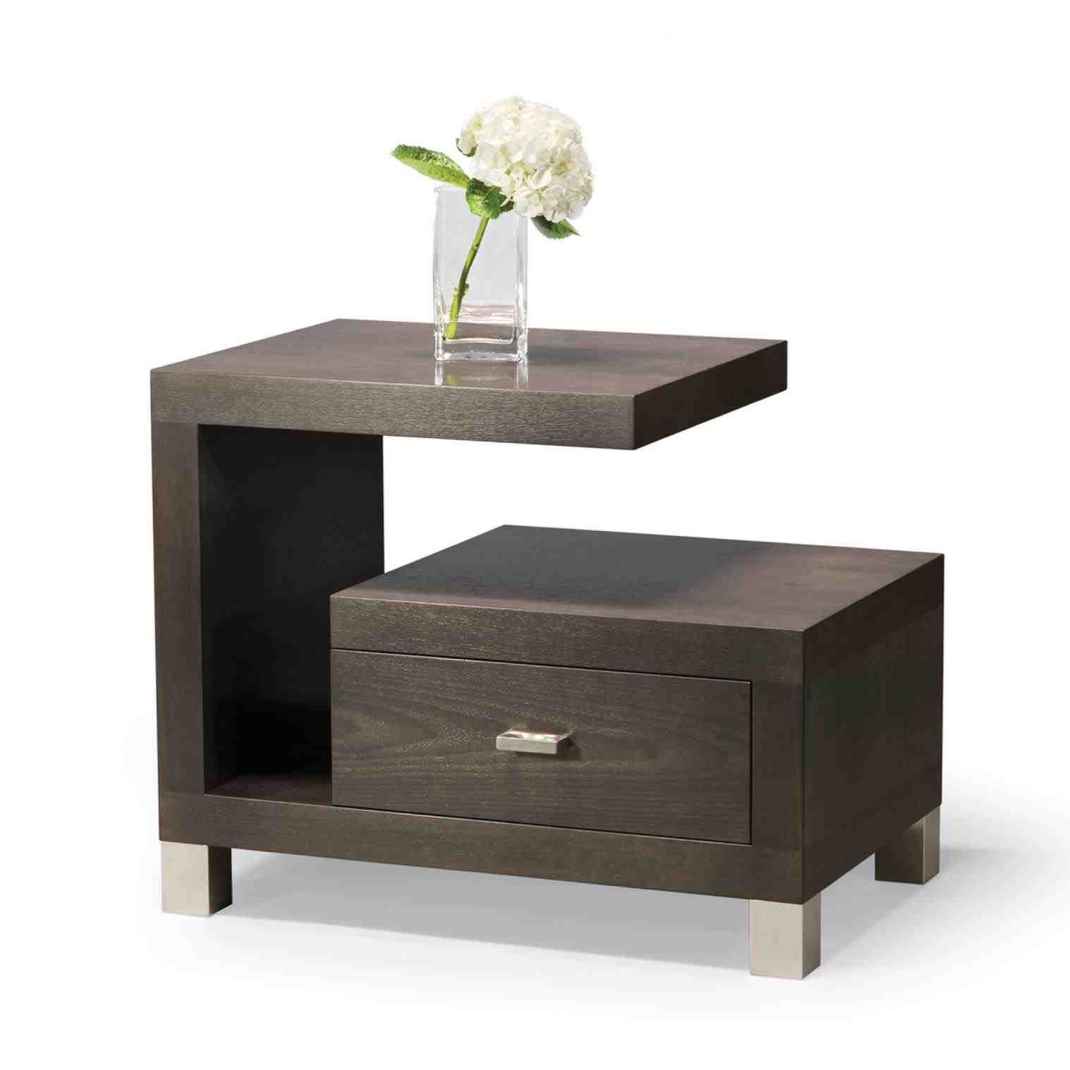 Small Black Bedside Table Bedside Table Design Modern Bedside Table Contemporary Nightstand