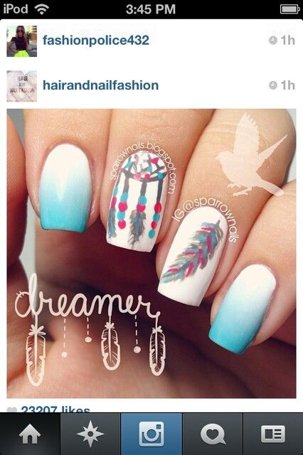 Native american themed nails | Native American /also sayings ...