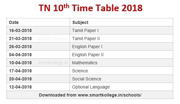 Image result for 10th public time table 2018 download   Format