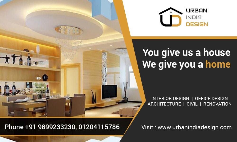 Urban india design is best interior designers in delhi ncr which providing excellent services also pin by on banner rh pinterest