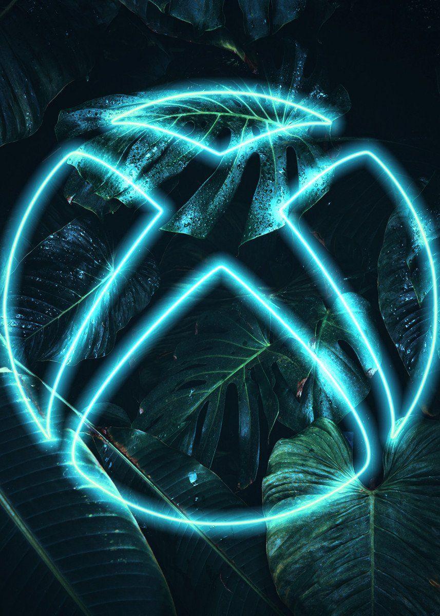 Xbox Neon Logo Gaming Poster Print Metal Posters Displate Gamer Pics Rocket League Wallpaper Best Gaming Wallpapers