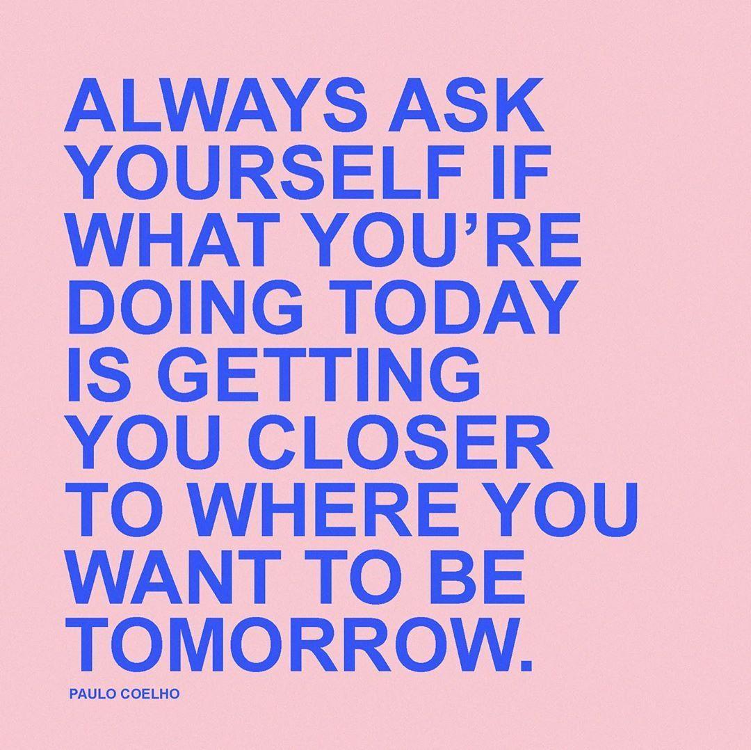 Always ask yourself...