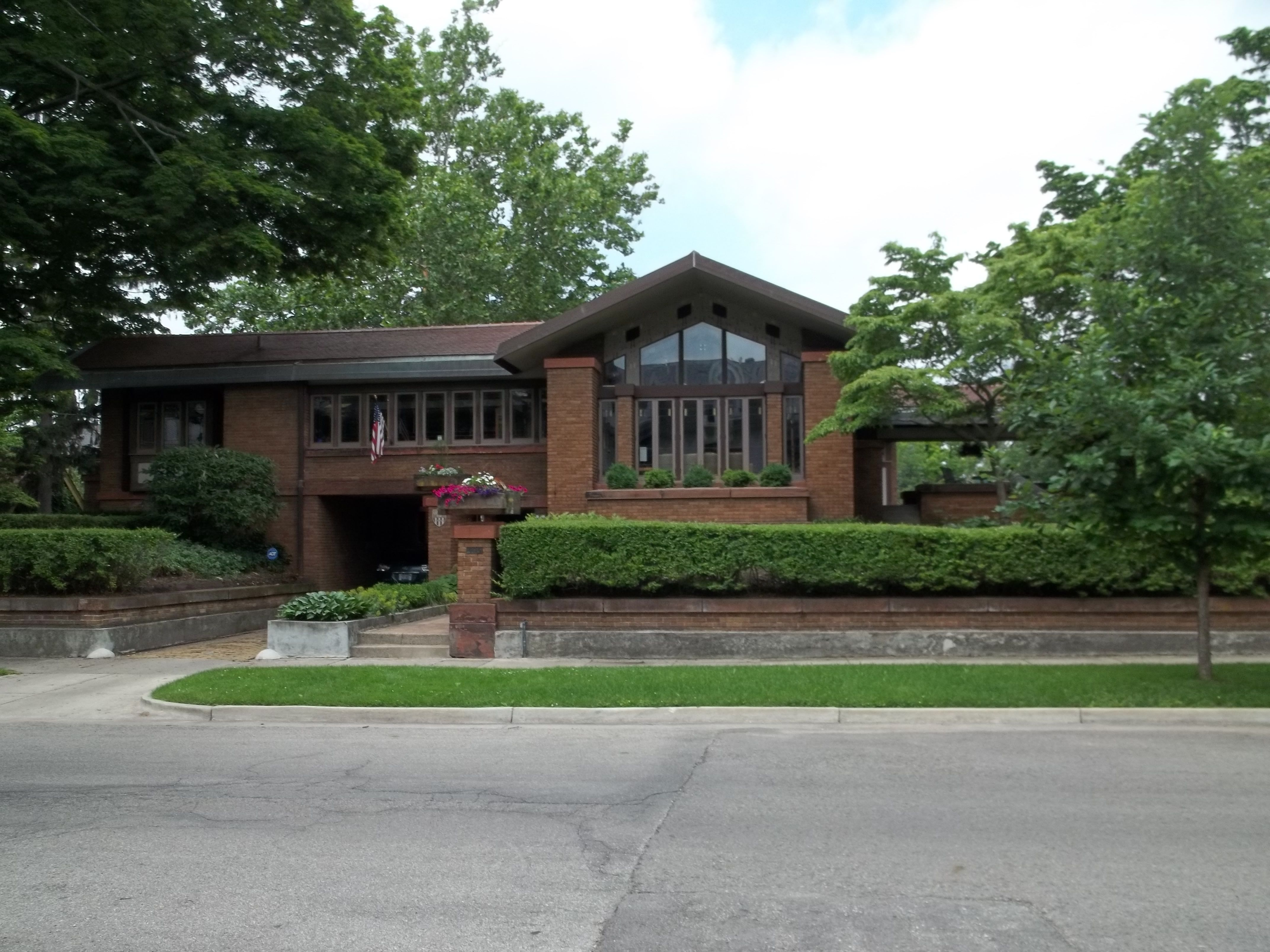 David M. Amberg House. 1910. Grand Rapids, Michigan. Prairie Style ...