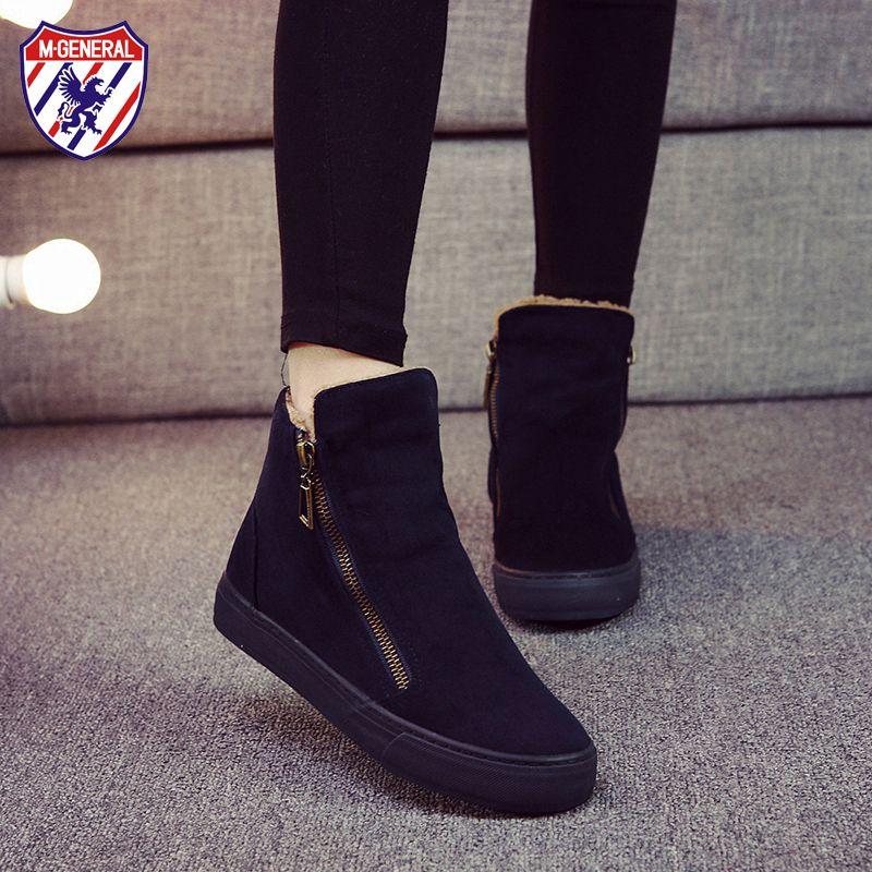 M.GENERAL Women Fashion Casual Shoes Woman Autumn Comfortable Canvas Platform Shoes Breathable Female Jeans Zipper Shoe #M-6991