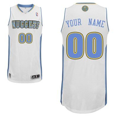 the best attitude fab35 7e7ca Adidas Denver Nuggets Custom Authentic Home Jersey | Custom ...