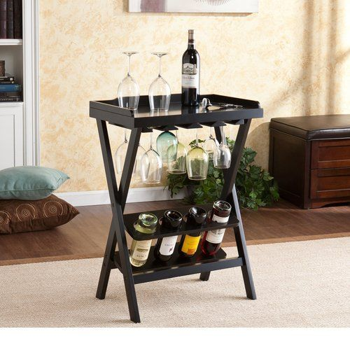 Espresso 12 Bottle Wine Table