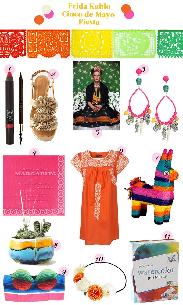 Mexican Christmas Party Ideas Part - 30: Frida Kahlo Fiesta Mexican Party Inspiration Guide Items Products  Anthropology Colorful Pinata Mexico Cinco De Mayo
