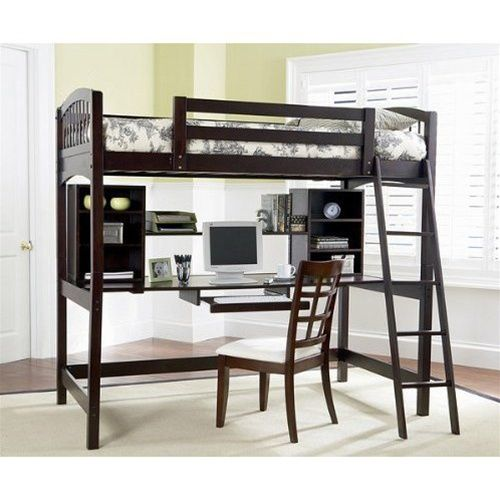 Gavin Navy Blue Twin Loft Bed With Desk Chest Bunk Beds