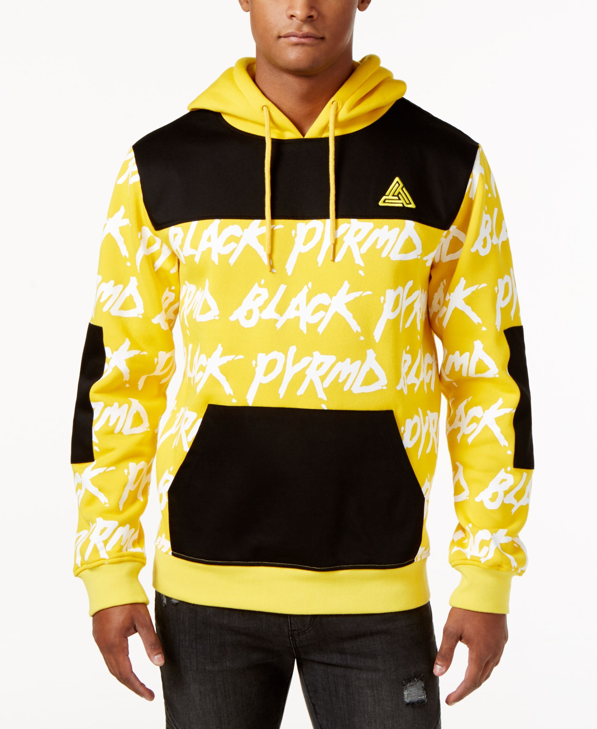 05ed9436 Black Pyramid Men's Text Hoodie | Products | Mens sweatshirts ...