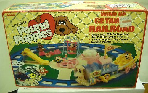 Arco Pound Puppies Wind Up Get Away Railroad memory lane