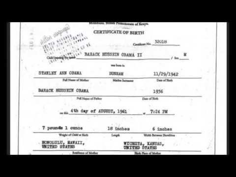 Obama\'s Kenyan Birth Certificate Revealed? - YouTube | Orwell\'s ...